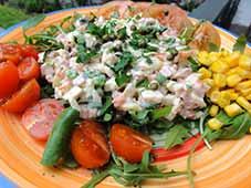 Kip-met-hamsalade