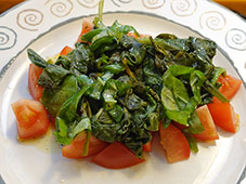Spinazie-tomatensalsa
