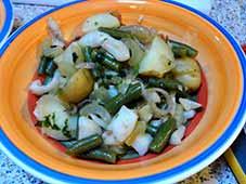 Aardappel-inktvissalade