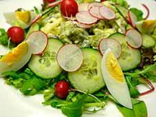 Aardappelschijfjessalade