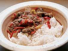 Kippenlevertjesragout-met-rijst