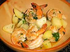 Lauwwarme-scampi-salade