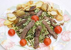 Salade-van-biefstukreepjes